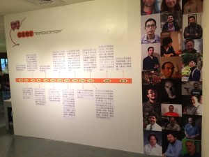 History of origami timeline and portraits of artists in OLW.