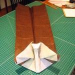 Beginning folds taking shape